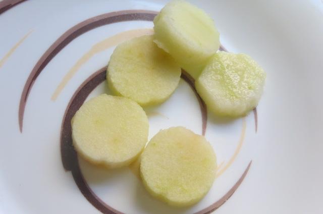 discos de pulpa de manzana