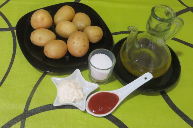 Ingredientes de las patatas bravas