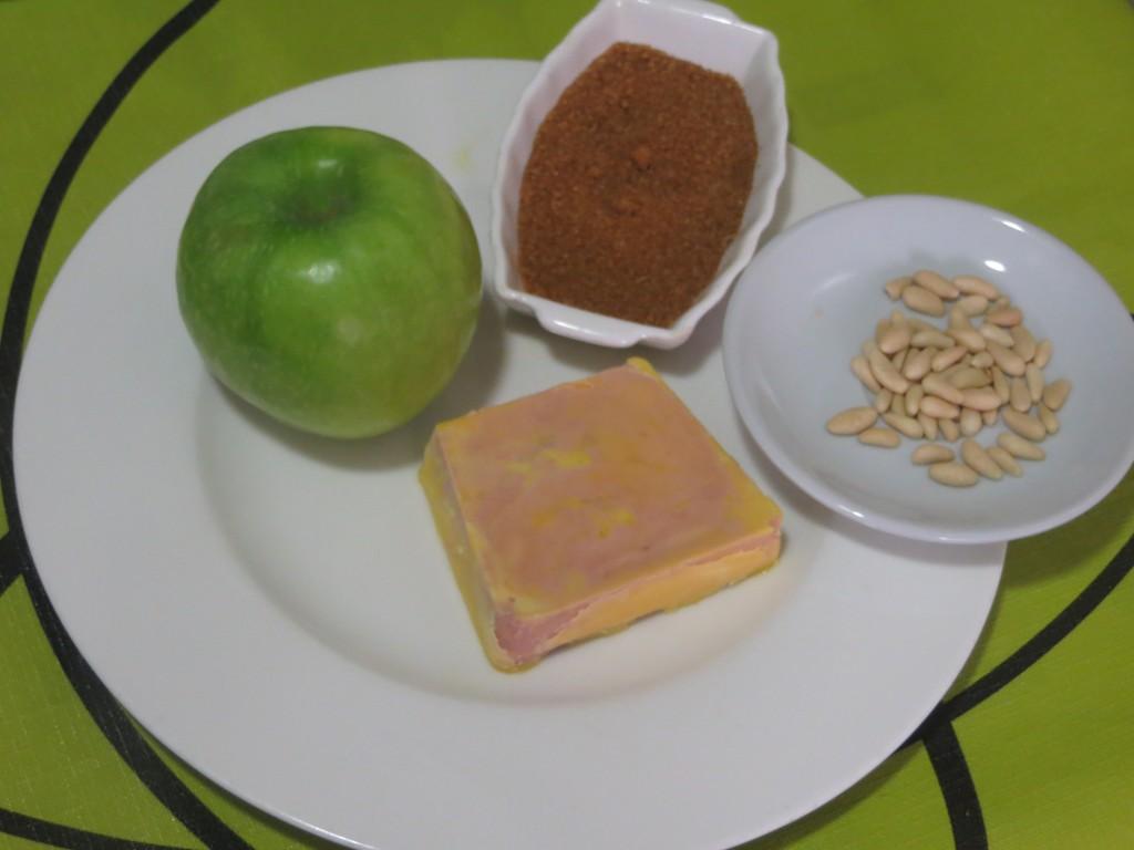 ingredientes de los bombones de foie