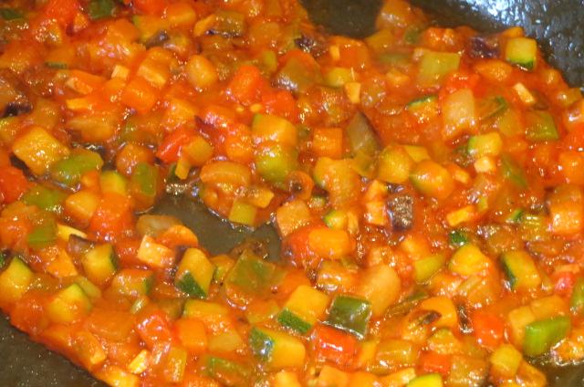 Ratatouille con tomate