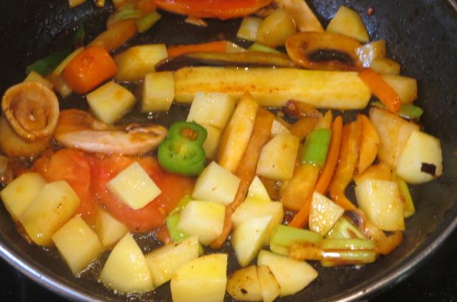 Salteado de restos de las verduras