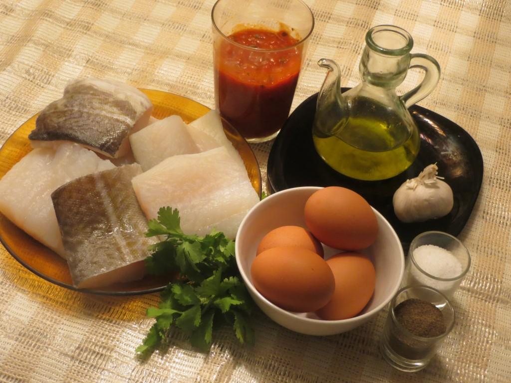 ingredientes de bacalao a la muselina de ajo
