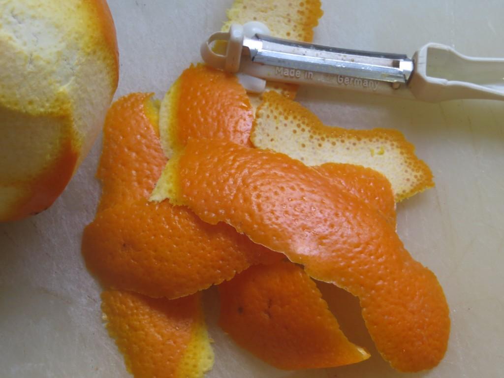 pelado de la naranja