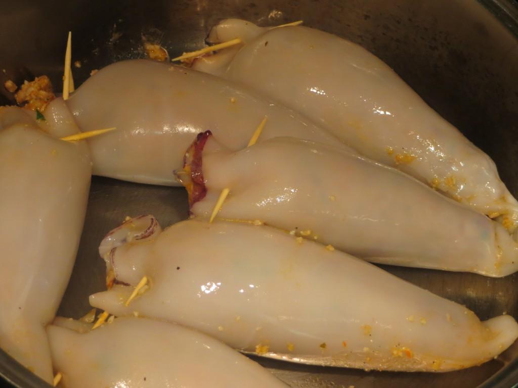 calamares acabados de rellenar