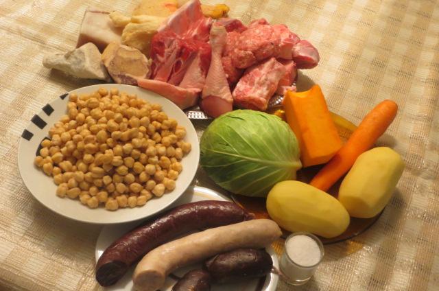 ingredientes del cocido