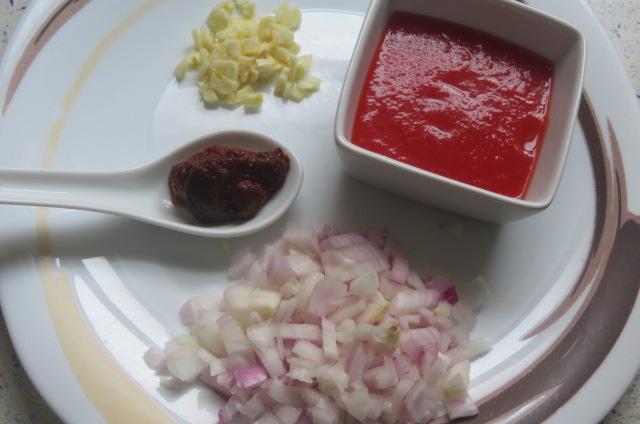 ingredientes para realizar el sofrito