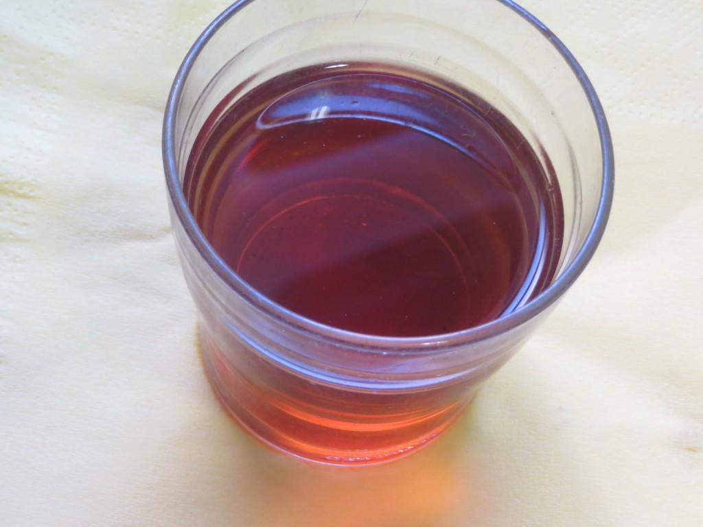 jugo de la hidratación de las setas