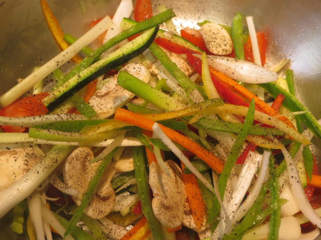 salpimentando las verduras