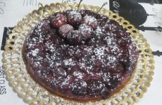 tarta invertida de cerezas