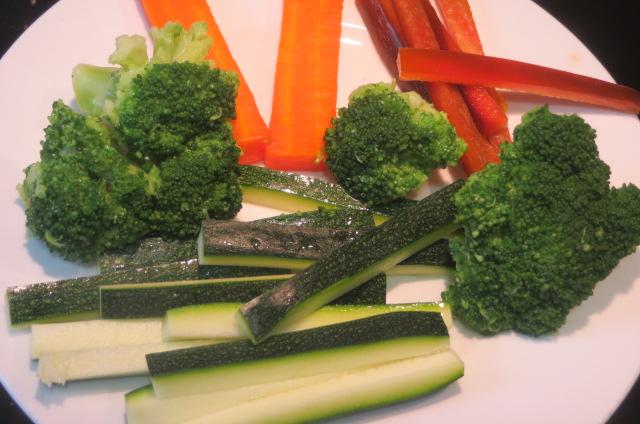 verduras preparadas para saltear