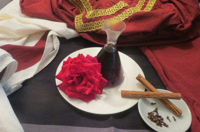 ingredientes vino de rosas con especiado moderno