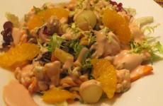 ensalada de pasta de hélices con verduras