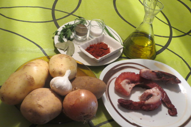 ingredientes pulpo a feira
