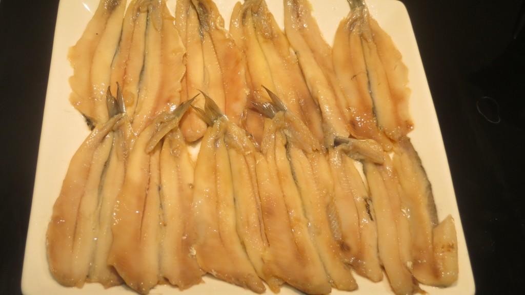 boquerones fuera del marinado