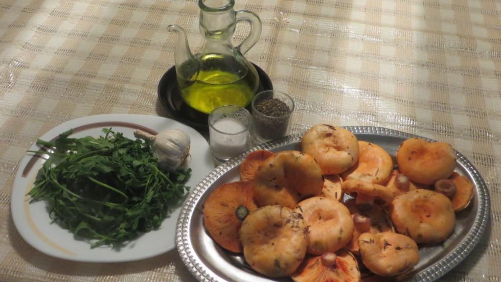 ingredientes níscalos con ajo y perejil