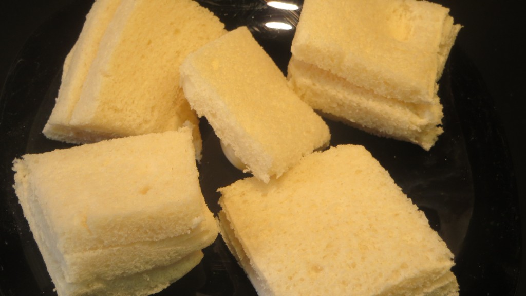 miga de pan cortada
