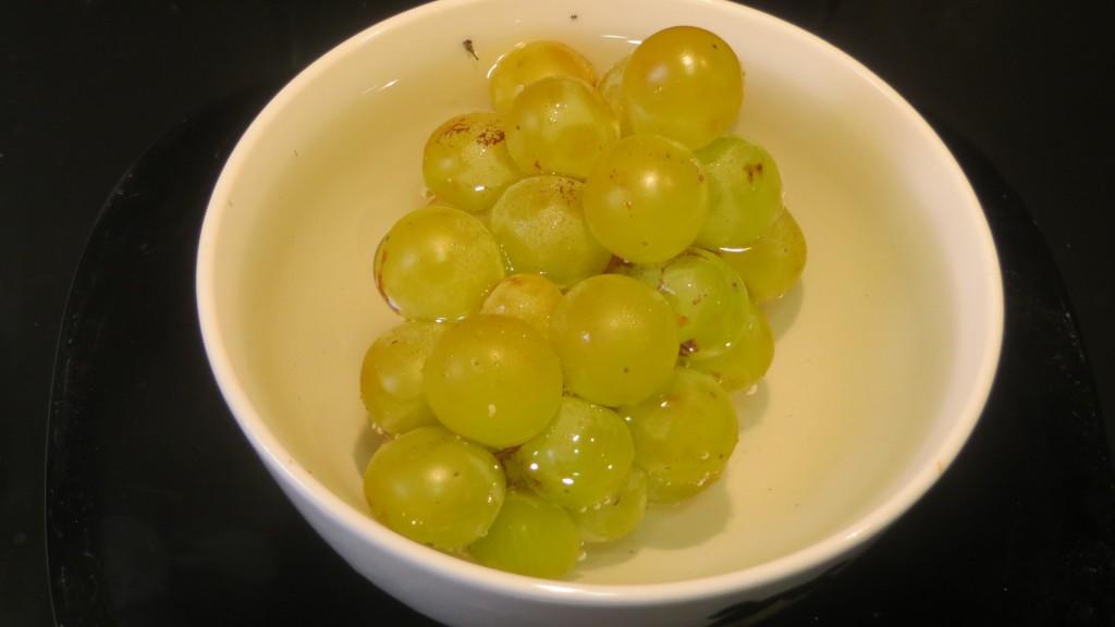 uvas moscatel lavadas