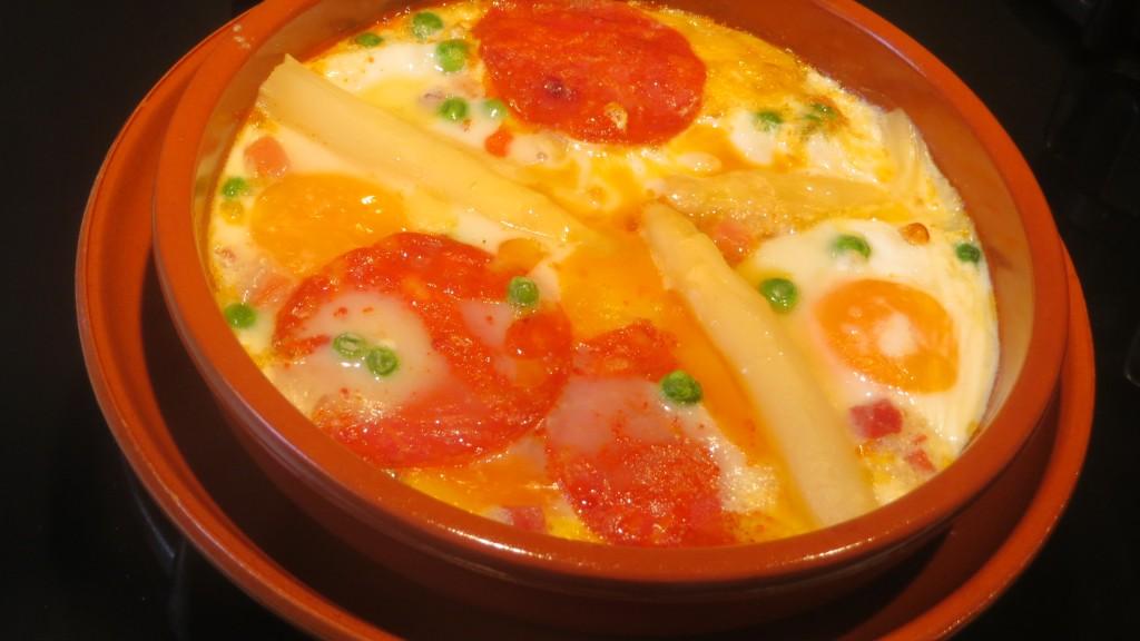 huevos a la flamenca  terminados