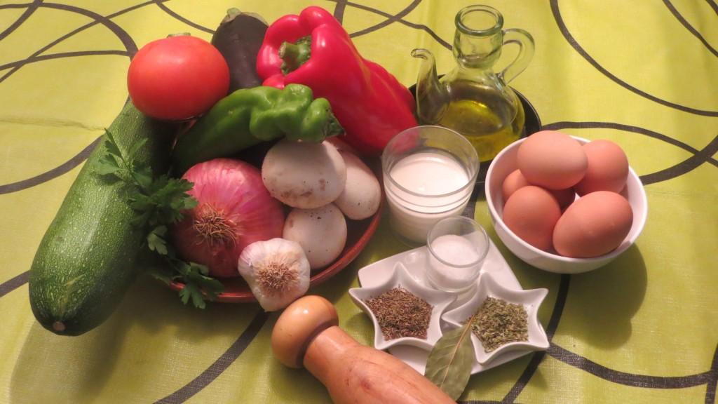 ingredientes de pastel hortelano