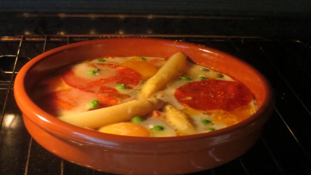 huevos a la flamenca en el horno