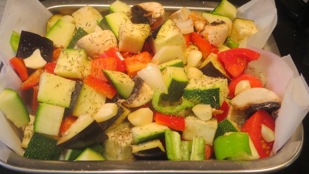 verduras con las hierbas aromáticas