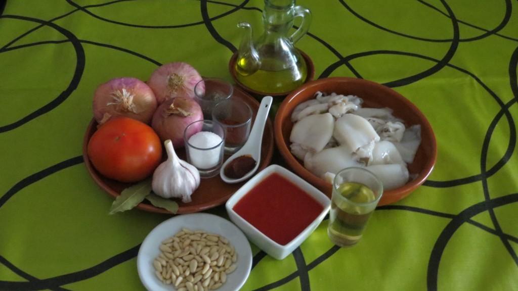 ingredientes de sepietas encebolladas