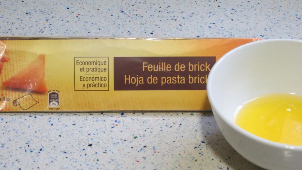 ingredientes del barquillo de pasta filo