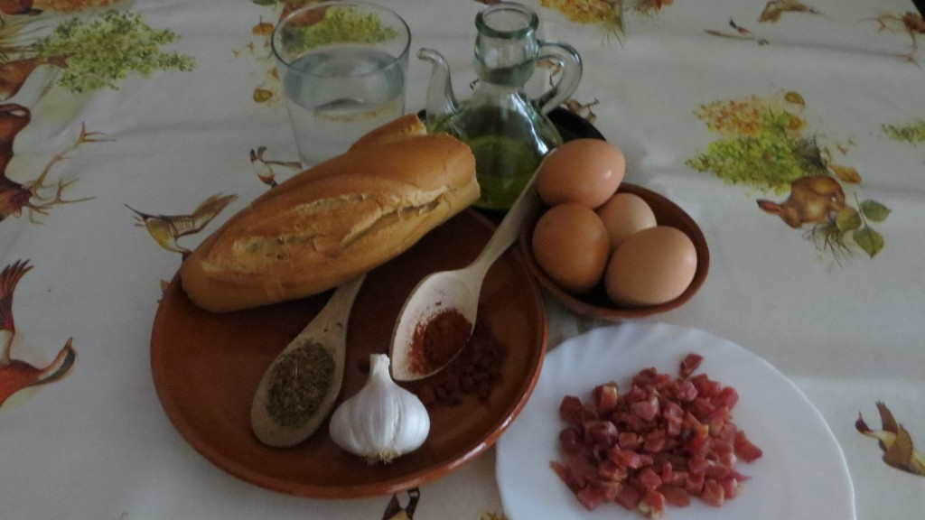 ingredientes de la sopa castellana