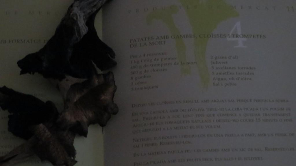 una de las recetas del libro els bolets