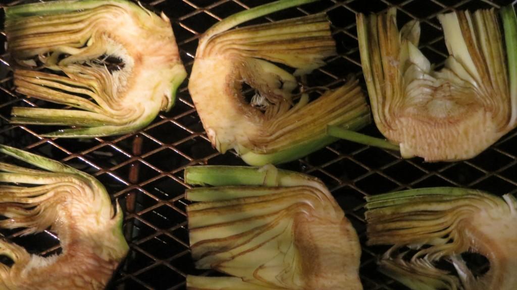 chips de alcachofa listos para freír