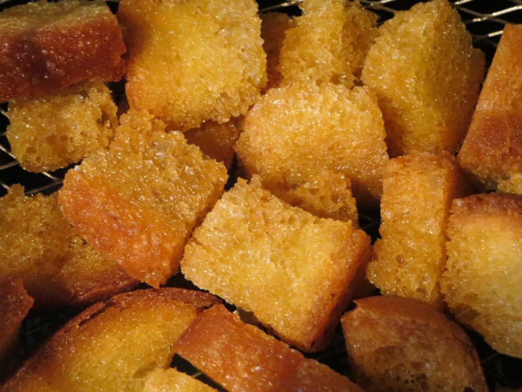 cuscurros de pan fritos