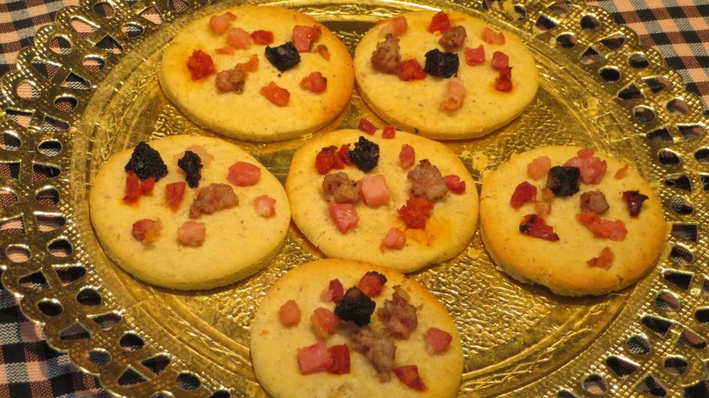 galletas saladas de habas estofadas