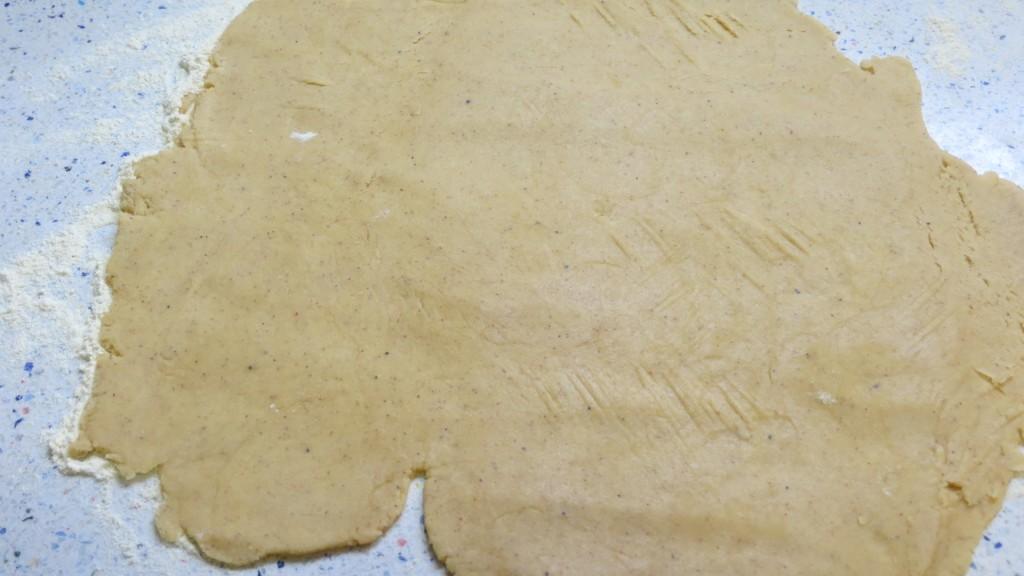 masa de galleta estirada