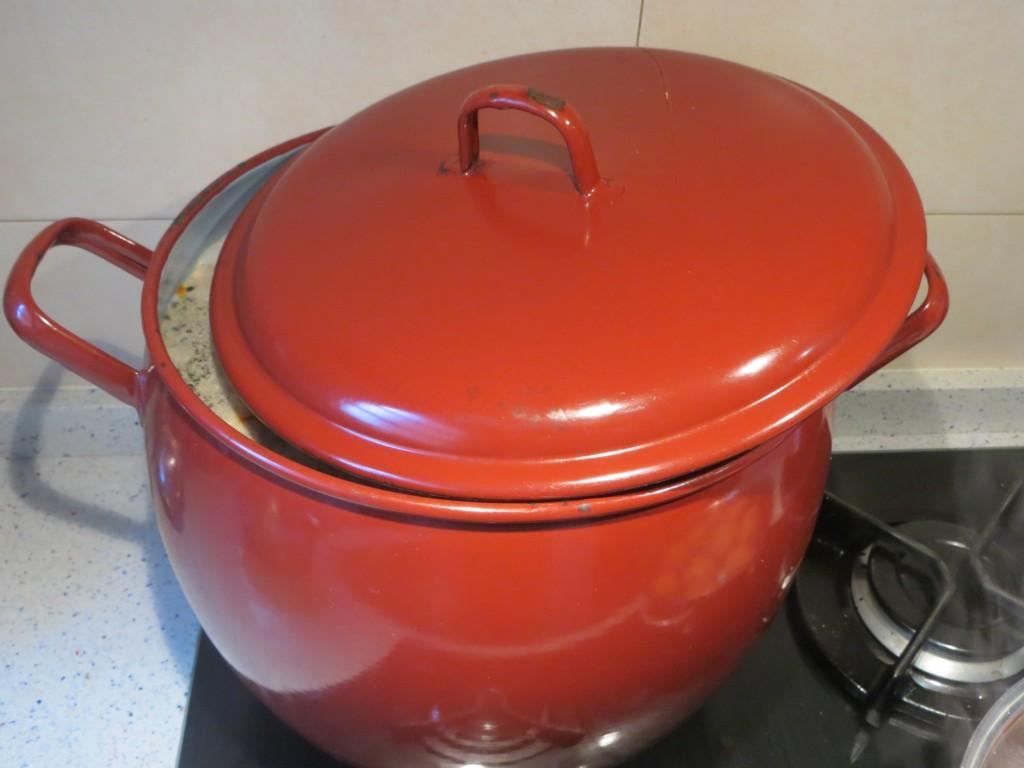 cocción de la sopa de pava