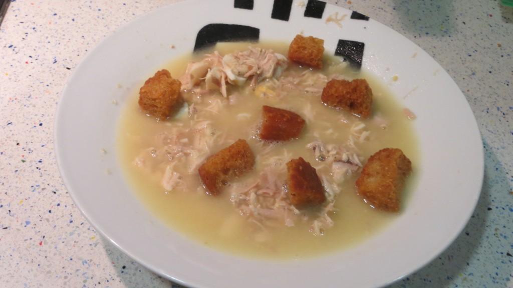 sopa de pava con cuscurros