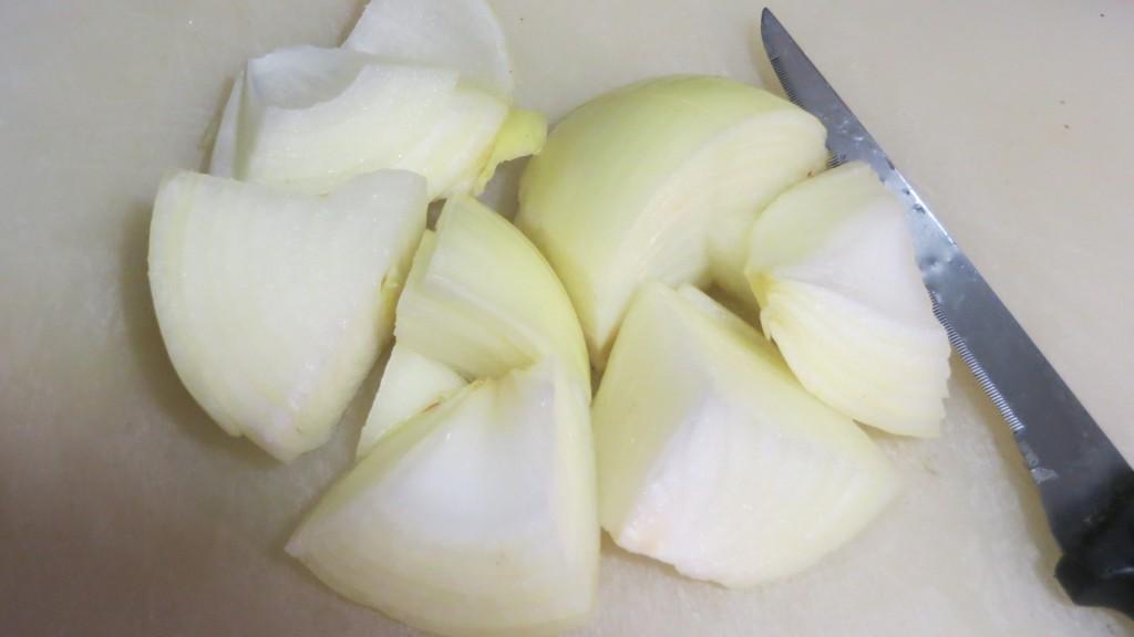 troceado de la cebolla