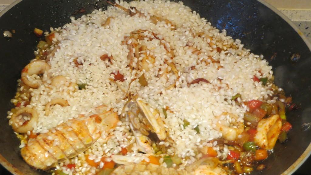 incorporación del arroz