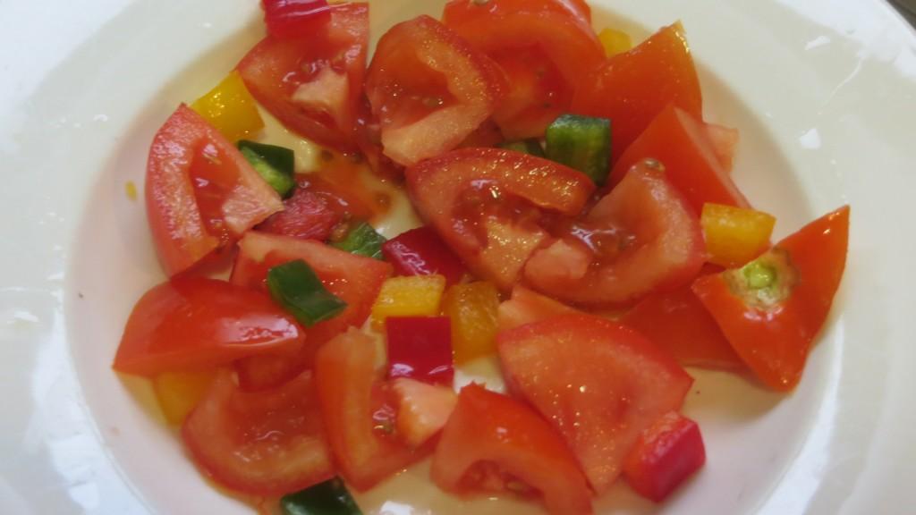 tomate incorporado a la pipirrana