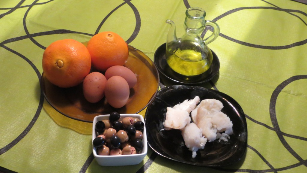 ingredientes remojón de naranja