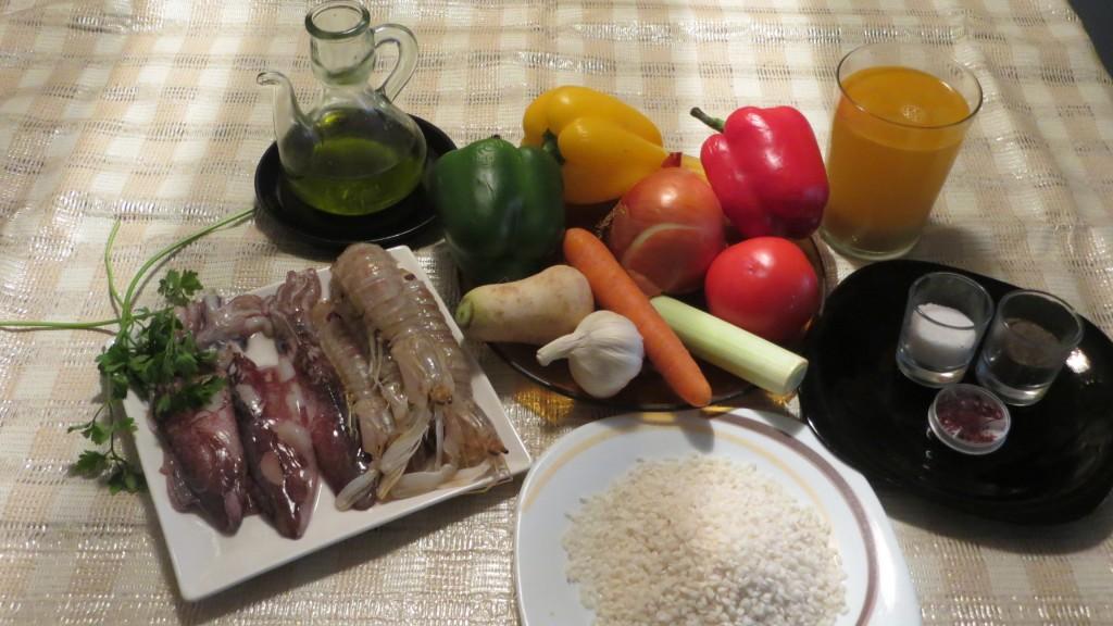 ingredientes arroz con galeras y calamares