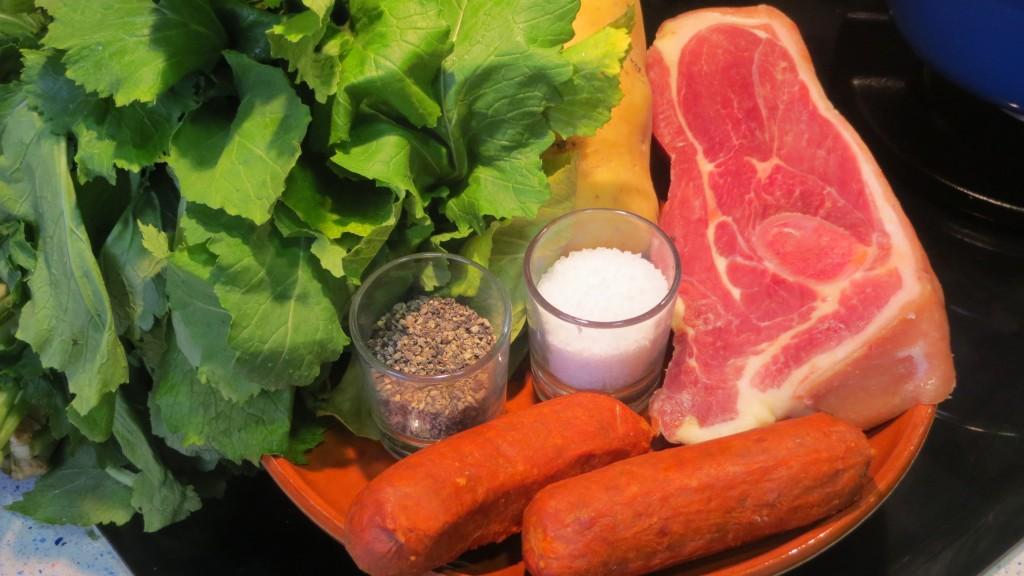 ingredientes del lacón con grelos