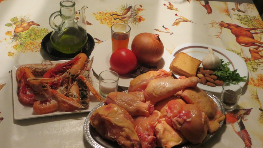 ingredientes del plato mar y montaña