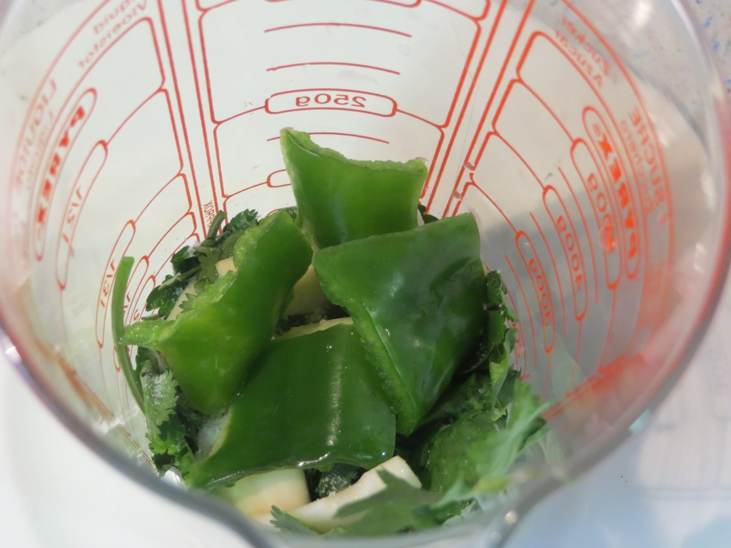 pimiento verde incorporado