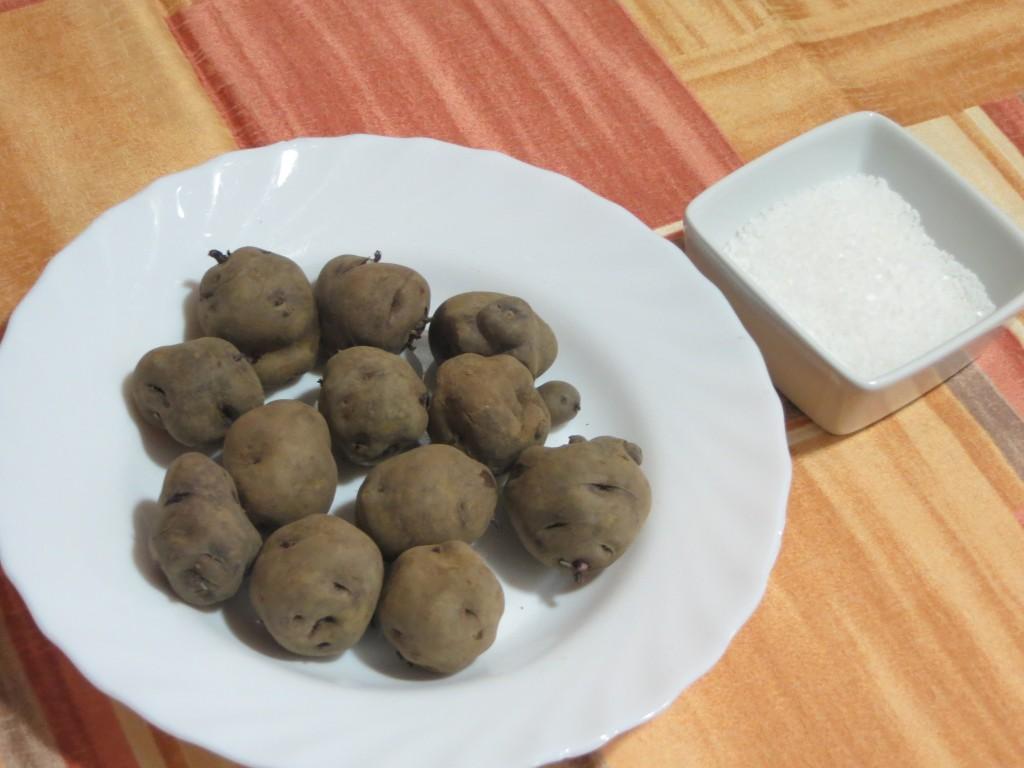 ingredientes para las patatas arrugadas