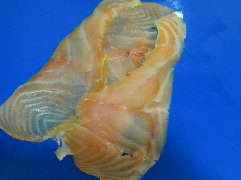 láminas de salmón colocadas