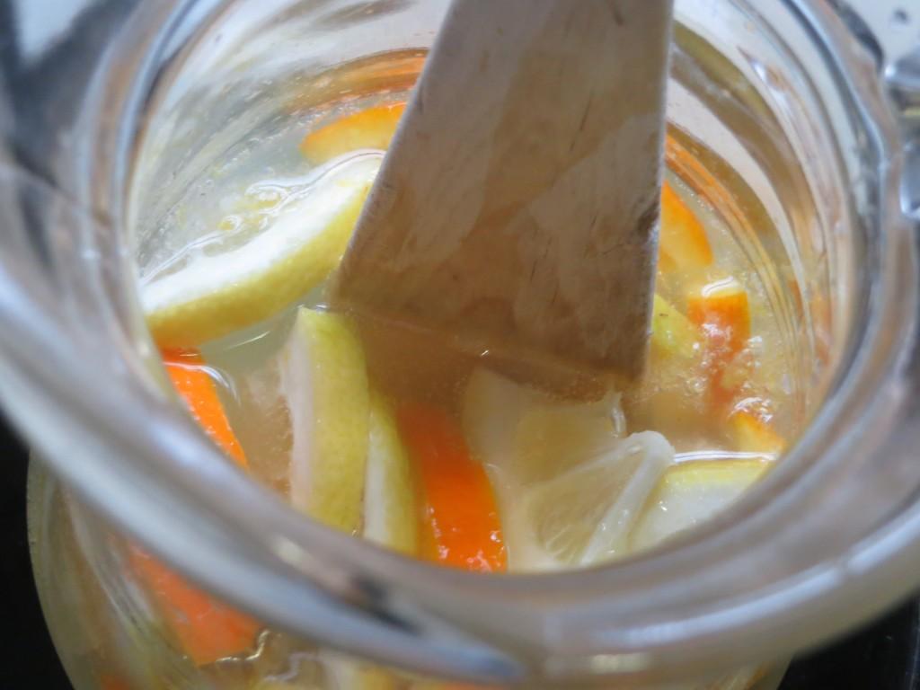 refresco mezclado con el resto de ingredientes