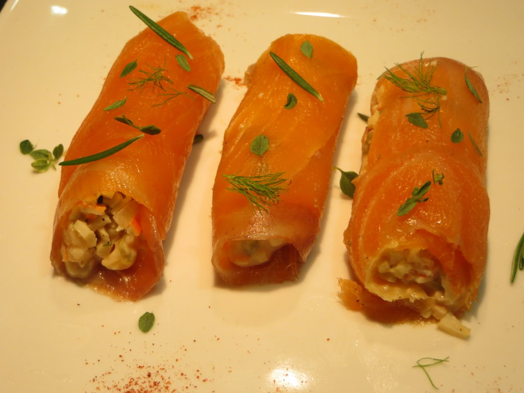 canelones de salmón rellenos
