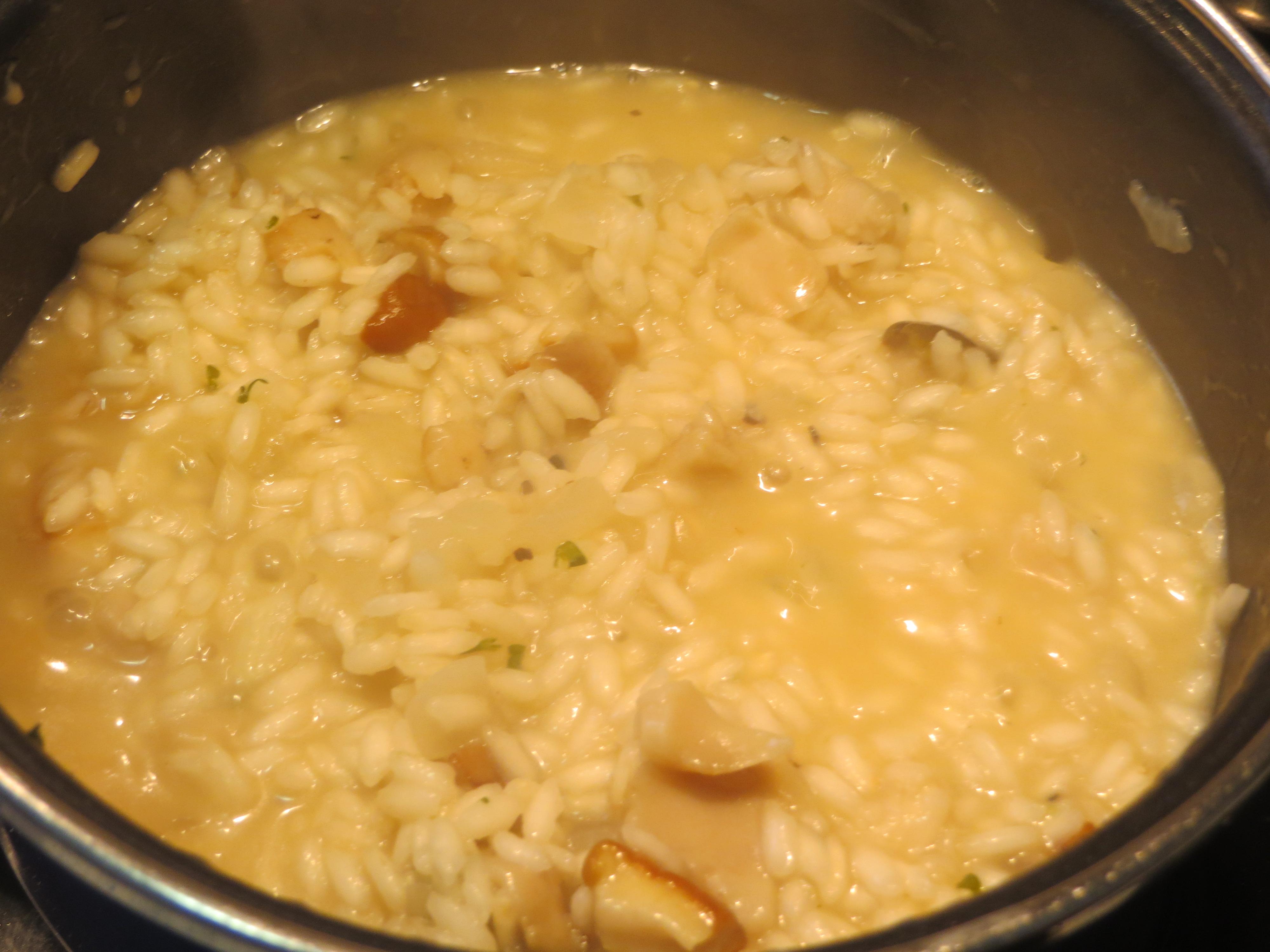 arroz con el caldo reducido
