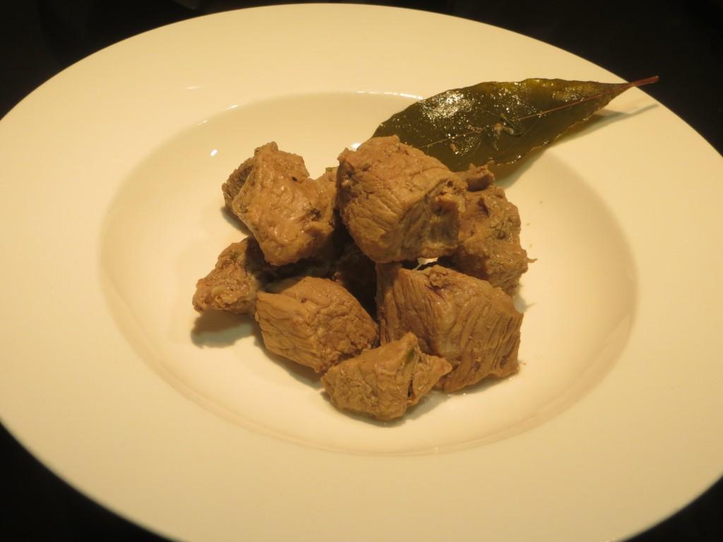 carne de ternera a la antigua emplatada