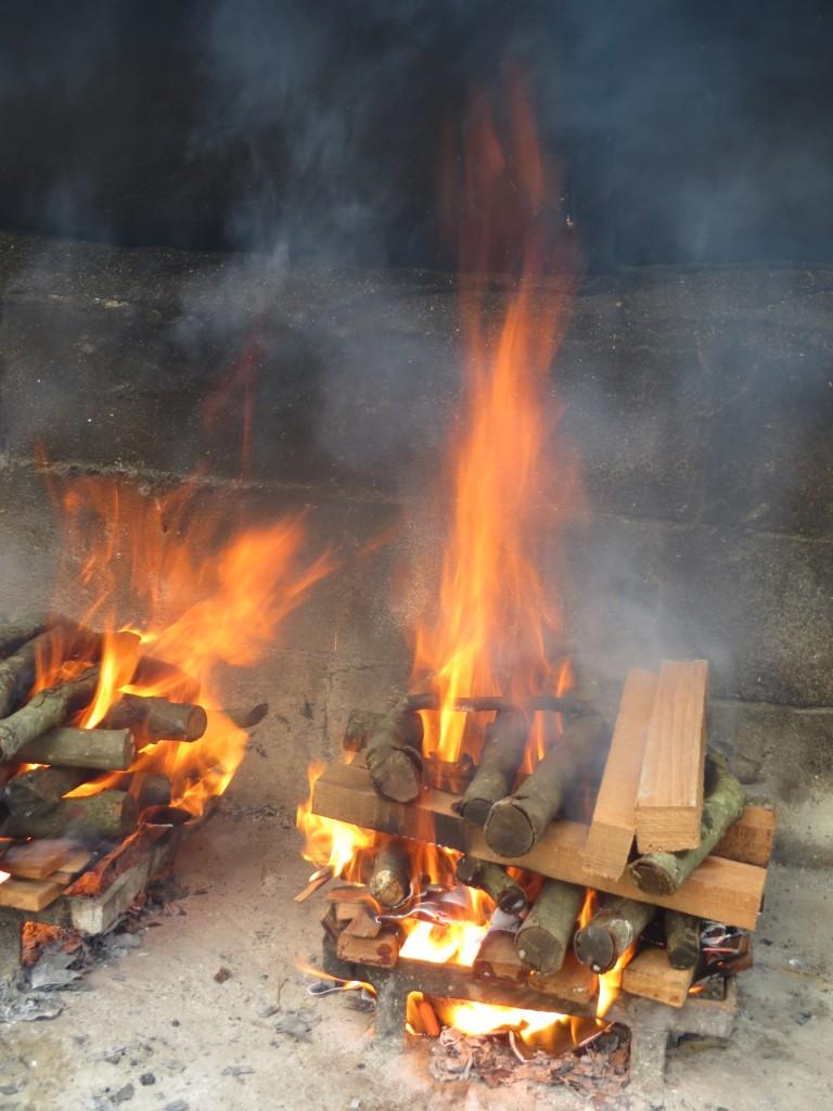 fuego encendido